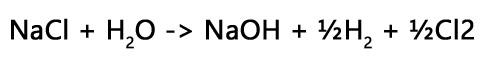 Electrolysis of sodium chloride solution