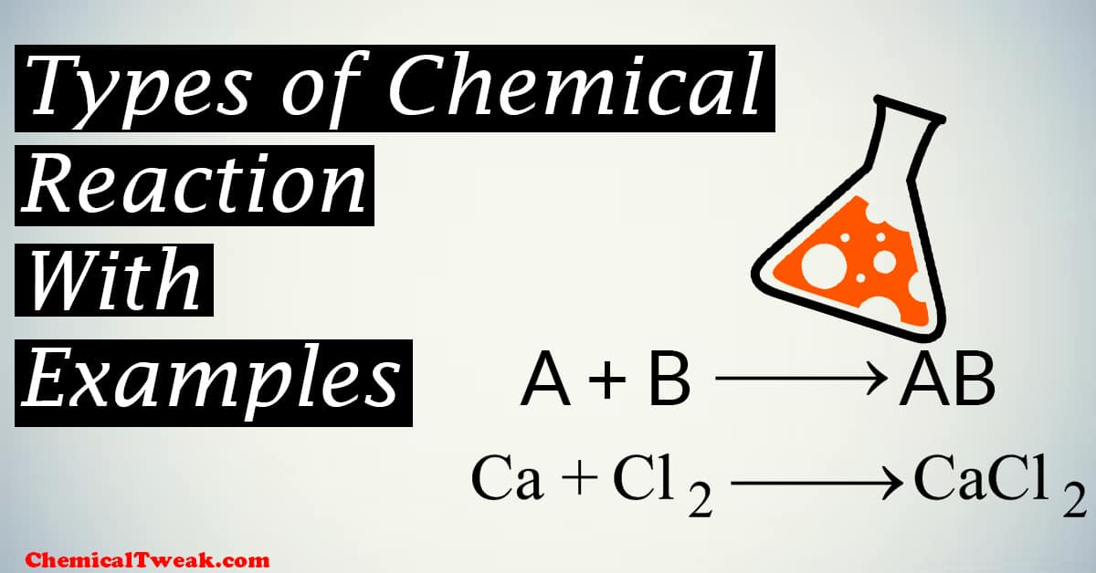 types of reaction definition