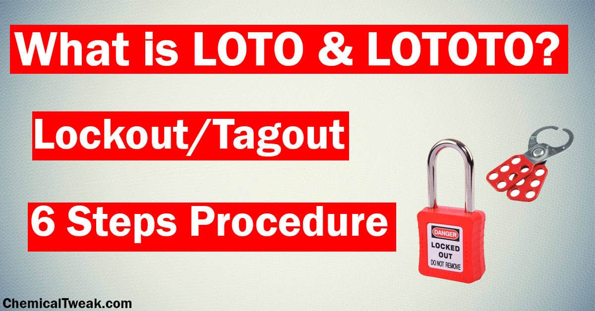 lock out Tag out Steps loto procedure