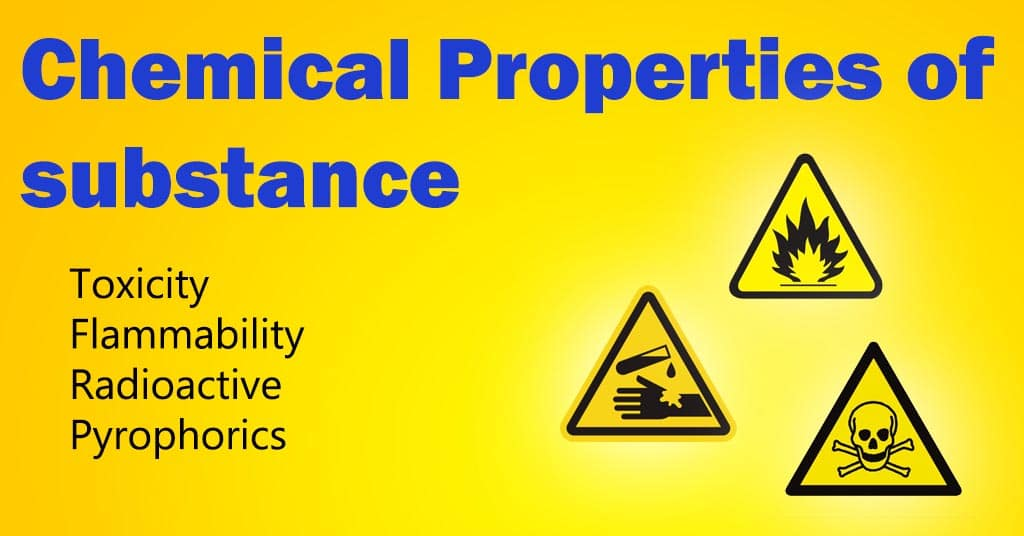 chemical properties of substance