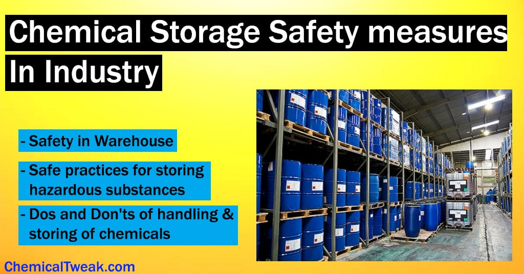 Chemical Storage Safety measures In Industry